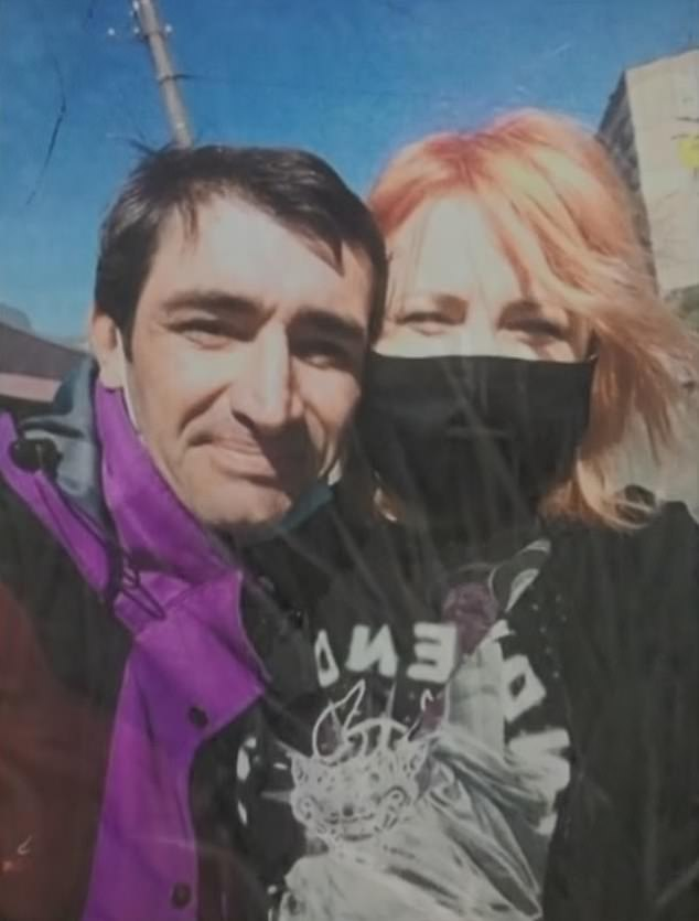 A 41-year-old man (left), identified only as Oleksandr, admitted to killing his girlfriend (pictured) and cooking her legs after feeling hungry during their drinking party in Ukraine