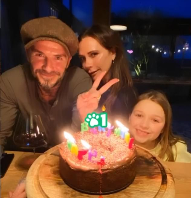 Victoria Beckham found 30 employees in her struggling fashion brand - despite an astounding family fortune estimated at £ 330 million. Pictured with husband David and daughter Harper
