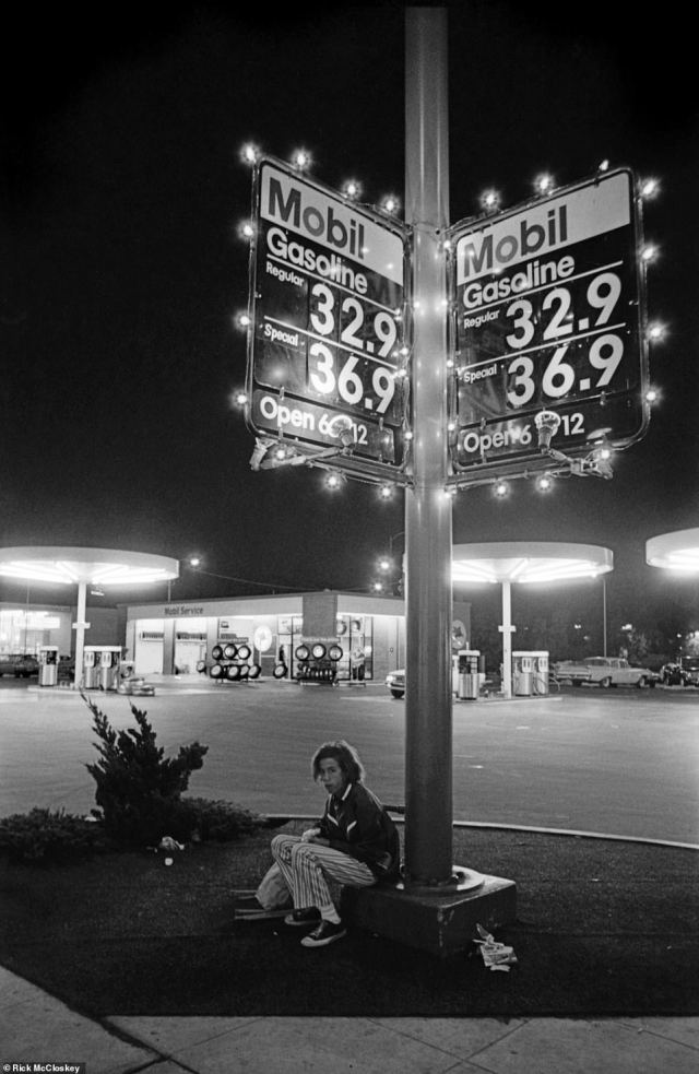 This image highlights the price of gas in the summer of 1972. McCloskey said there were stations selling gas for 29 or 30 cents. The decade would see two oil crises: one in 1973 and another in 1979. This put a damper on the market for big-engine muscle cars and was one of the factors that led to the decline of cruising.