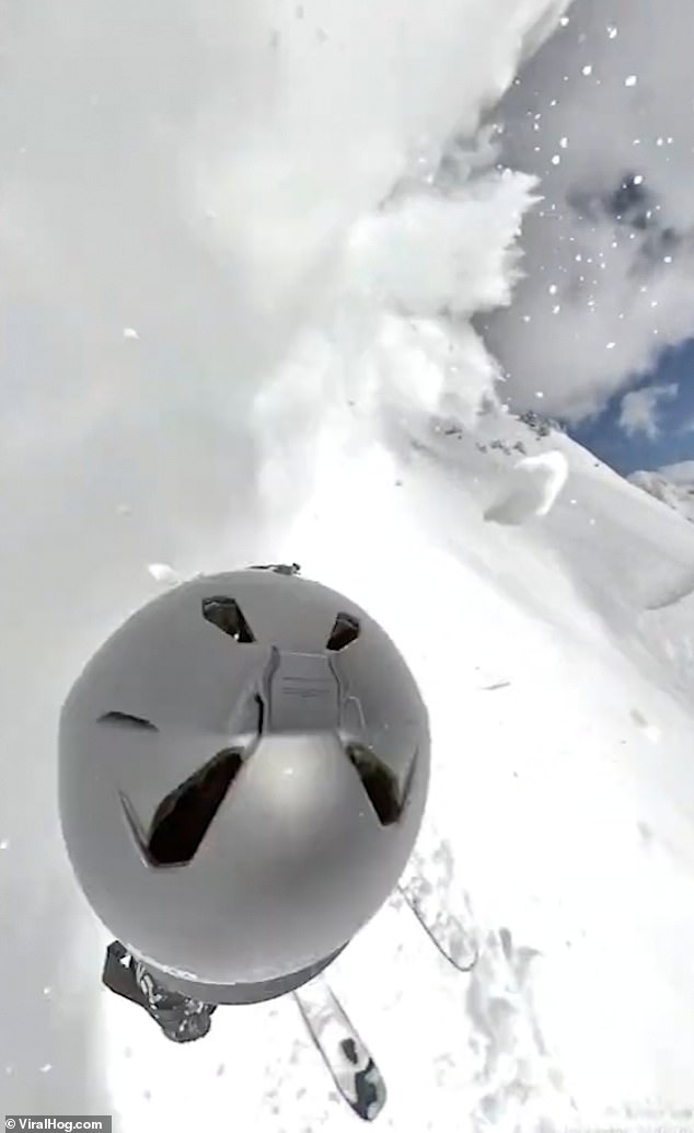 Shocking GoPro images show avalanche approaching, skier still unaware of snow slide
