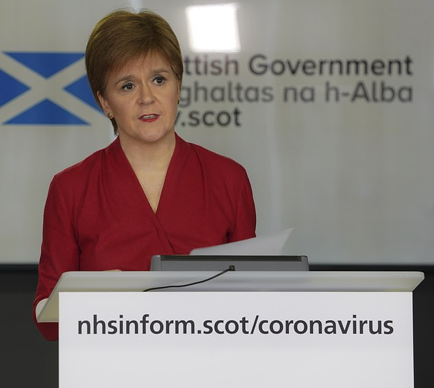 """Nicola Sturgeon is publishing a document today that will contain """"guiding principles"""" to help block coronaviruses"""