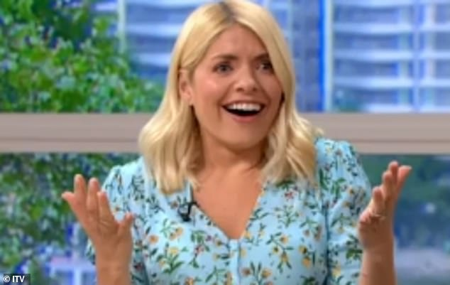 Huh! Before sharing her message, Holly joked that John Torode had `` saved his marriage '' this Thursday morning after offering a solution to the `` boring '' typing of her husband Dan Baldwin