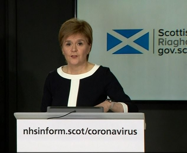Nicola Sturgeon yesterday signalled she is prepared to ease Scotland's coronavirus lockdown independently of the UK government