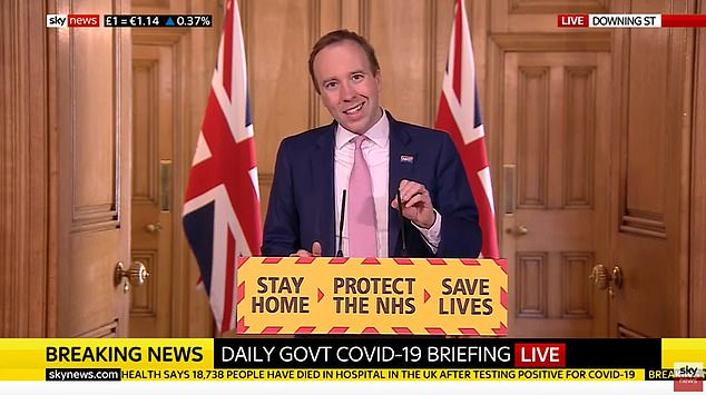 Matt Hancock today refused to bow to growing pressure for the UK government to set out how it intends to ease the coronavirus lockdown