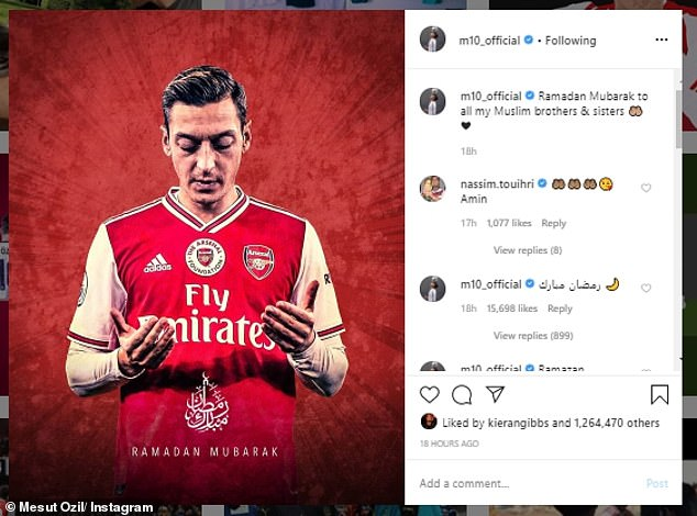 Mesut Ozil is another of the famous faces in football who are changing their traditions amidst the coronavirus