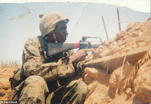 According to his LinkedIn profile, Gedlu (pictured in training in 2003) served as a Flight Equipment Technician for the US Marine Corps between 2002 and 2008, as well as a Mechanized Infantryman for the US Army between 2007 and 2010