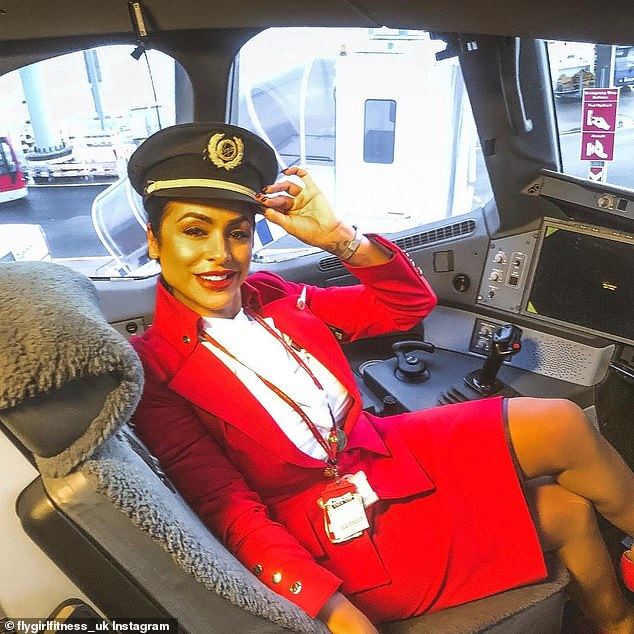Sara normally flies all over the world but had to play a new role to make ends meet
