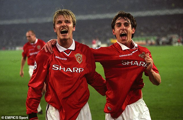 David Beckham and Gary Neville would form a very unlikely friendship at Manchester United