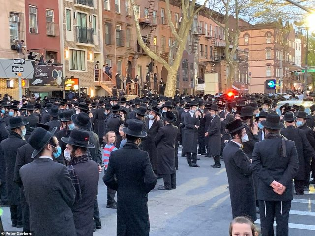 A spokesperson for the NYPD said officers did not ticket or arrest anybody at Tuesday's funeral