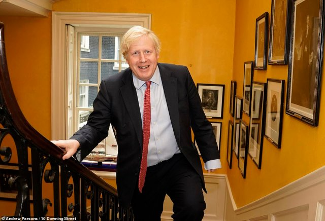 Praise for Mail Force was universal among senior ministers yesterday. The salutes were led by Prime Minister Boris Johnson (pictured) as 150,000 masks and coveralls started arriving for frontline workers