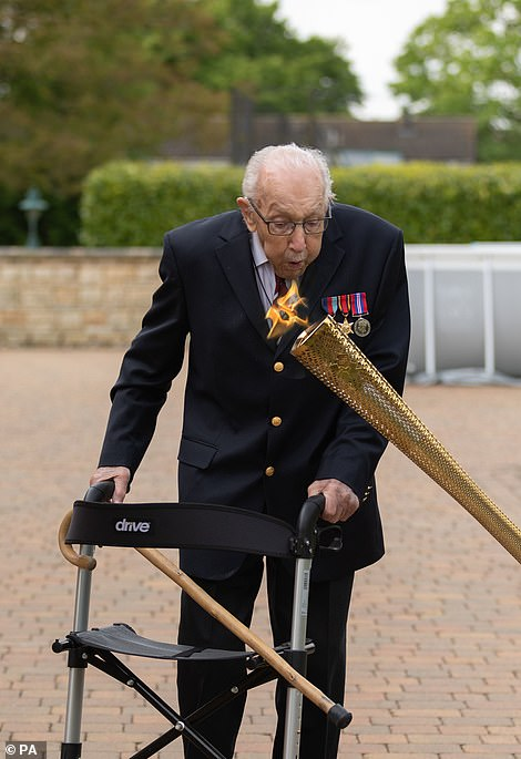 Captain Tom Moore has already raised nearly £30 million by walking 100 laps of his garden for NHS Charities Together,