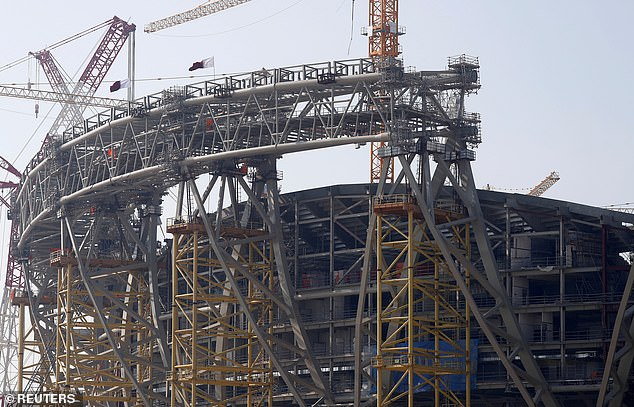 The Lusail Stadium in Doha is another under construction ahead of Qatar World Cup in 2022