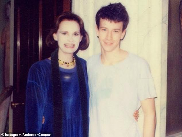 `` As a gay child, I never thought I would have a child, '' Cooper told CNN viewers after the announcement of the birth. He is depicted as a youngster with his mother