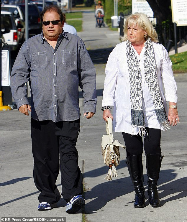 Devastating: mom Bonnie died in 2013 after a long illness, while father Jeff died of unknown causes in 2014 (photographed together in Los Angeles in 2010)
