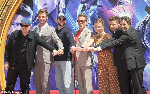 Whatta Prize: Chis draws the chance to meet the six stars, including Robert Downey Jr., Scarlett Johansson, Chris Hemsworth, Jeremy Renner and Mark Ruffalo.