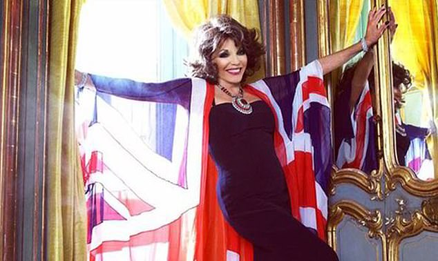 Earlier, Dame Joan Collins will lead a toast to the heroes of the Second World War