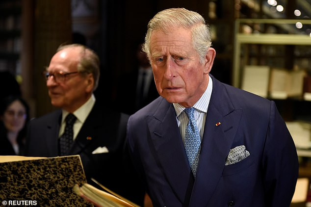 Prince Charles will read an extract from his grandfather's diary in which the momentous events of May 8, 1945, were recorded