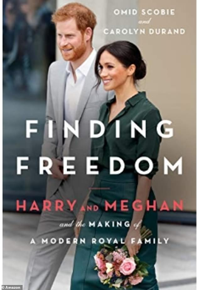 The name of Prince Harry and Meghan Markle's explosive biography was revealed under the title Finding Freedom: Harry and Meghan and the Making of A Modern Royal Family (pictured, front cover of biograpy listed on Amazon)