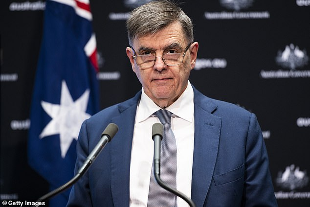 Australia's chief medical officer Brendan Murphy (pictured) said a slow, staggered process of easing restrictions would be recommended to the government by health experts