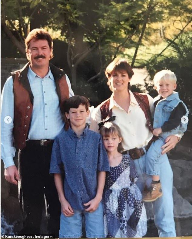 Old times:Matt was previously married to Kara's mother Jeana Keough from 1984 until their 2004 separation. The divorce was finalized last year