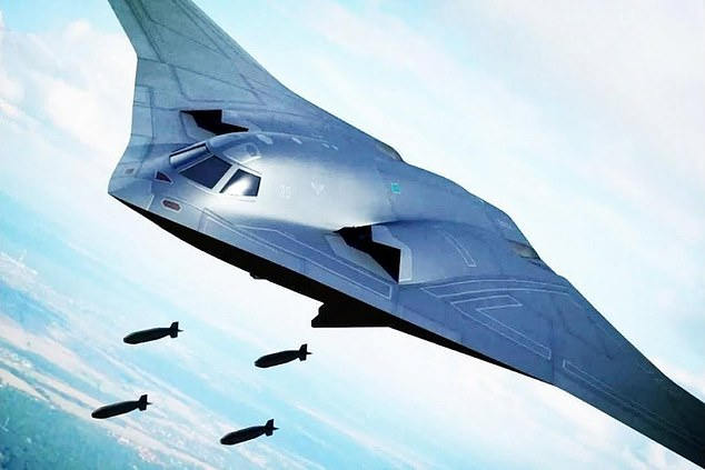 The H-20 is a strategic bomber similar to the B-2 or B-21, according to the US Defense Intelligence Agency. The warplane is currently being developed by China (artist's impression)