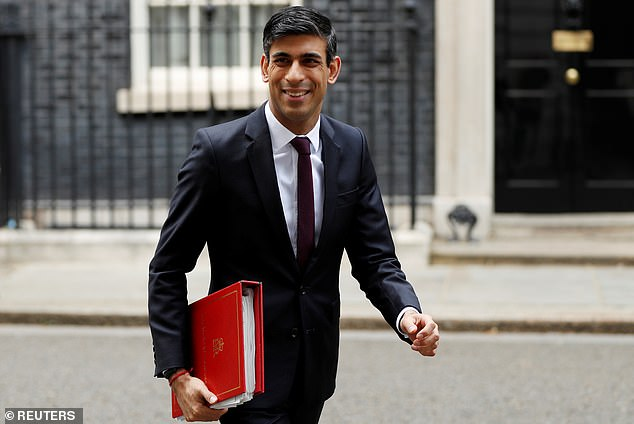Chancellor Rishi Sunak (pictured yesterday) has promised there will be no 'cliff edge' cut-off to the scheme, but he acknowledged such a level of expenditure was not 'sustainable' in the longer term