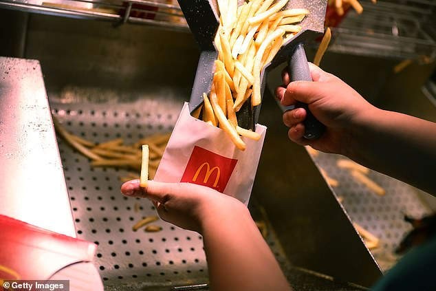 French fries, Big Macs and cheeseburgers will be available to order but there will be no breakfast menu on departure