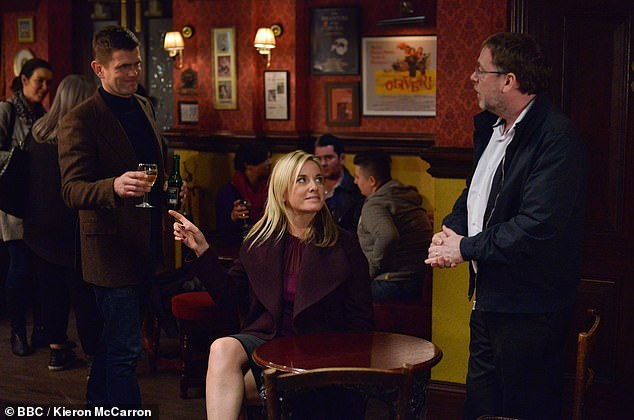 Rostro familiar: Tamzin es mejor conocida por su papel de Mel Owen en la BBC de EastEnders, un personaje que interpretó de forma intermitente durante 21 años antes de abandonar el programa en 2019