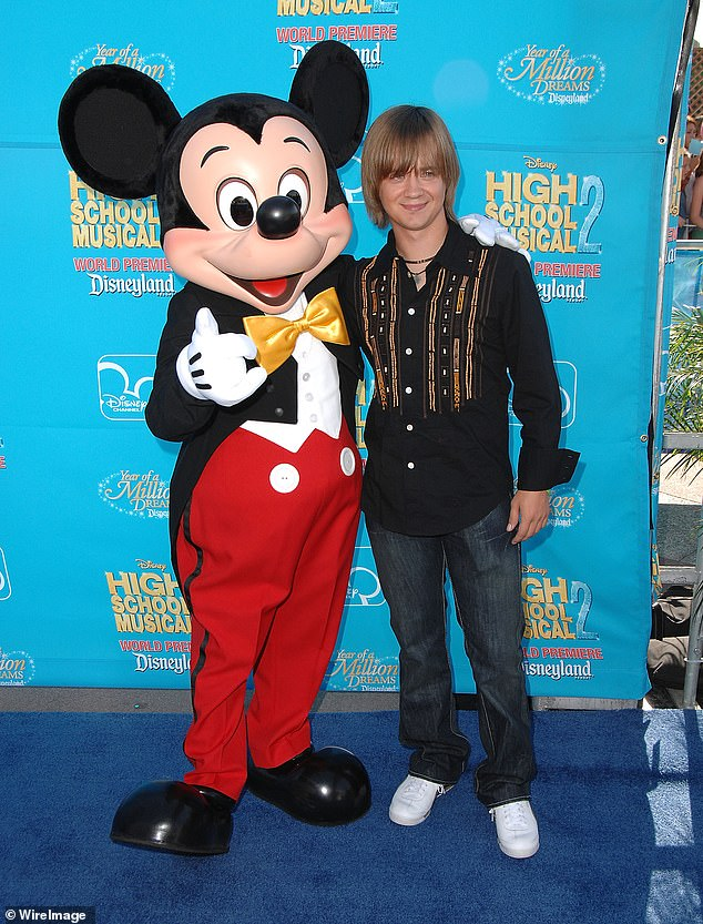Young looking: Hannah Montana star Jason Earles (pictured in 2007) was also 'a really nice guy,' though she thought the 43-year-old was a teenager when she spotted him