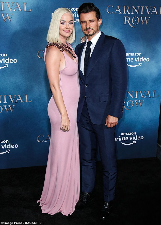 Love: Katy and Orando have been on-and-off since 2016. They got engaged in February 2018 (pictured August 2019)