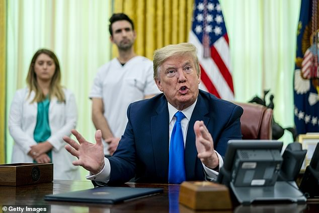 President Trump said he heard `` the opposite '' of what Sophia Turner called `` sporadic but manageable '' PPE supplies - personal protective equipment
