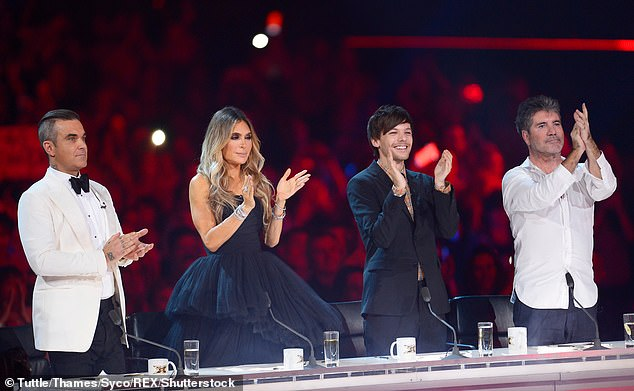 Lauren Silverman has had an impact on Simon's career choices too - the decision to invite Robbie Williams (left) and his wife Ayda Field (second left) to the X Factor 2018 judging panel was her idea