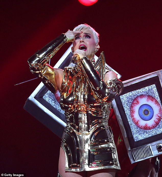Not many witnesses: The commercial failures of her 2017 project, Witness, seem to have inspired Katy Perry, based on the thoughtful words of her next song Smile. Seen here on tour for the album in 2018
