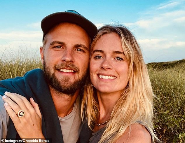 The socialite announced her engagement to the real estate agent in August of last year, asking the question with a stunning ruby ring while on a trip to the United States.