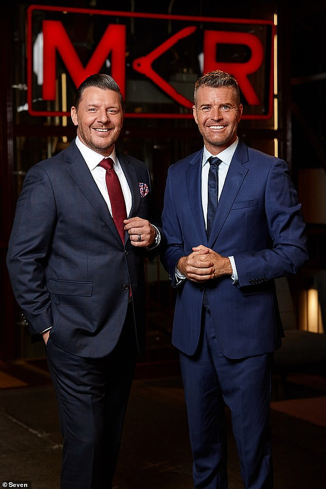Exit: The celebrity chef recently came to a 'mutual' and 'amicable' decision to leave the network, according to industry website TV Blackbox. Pictured with Manu Feildel (left)