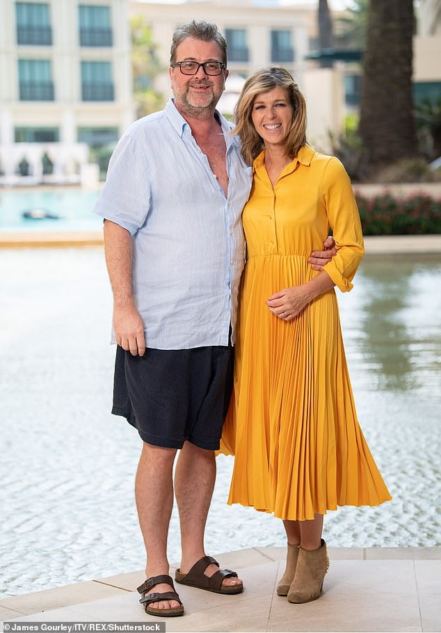 Love: the broadcaster also told fans that her husband Derek was `` always with us '' and `` was fighting so hard '' while he continued to fight COVID-19 in the hospital