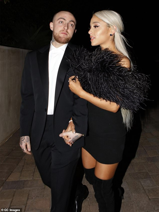 Tragic: the singer went out with rapper Mac Miller, who died of an accidental overdose in September 2018; the pair photographed in March 2018
