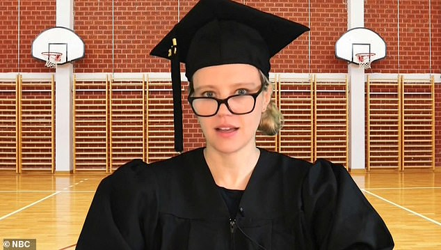 Kate McKinnon (above) acted as principal at St. Mary Magdalene By-The-Expressway High School