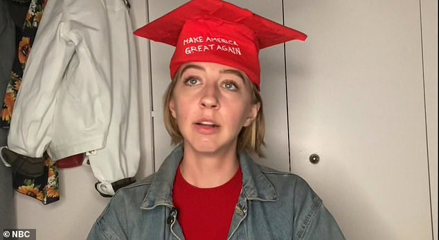 While Trump was the `` eighth choice '' of students to speak, at least one was a staunch supporter