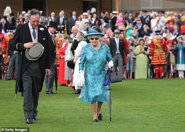 The Queen usually hosts three garden parties in her London home, with charities hosting two more, and another takes place in July at the Palace of Holyroodhouse in Scotland. In the photo: the queen at a garden party at Buckingham Palace in May 2018