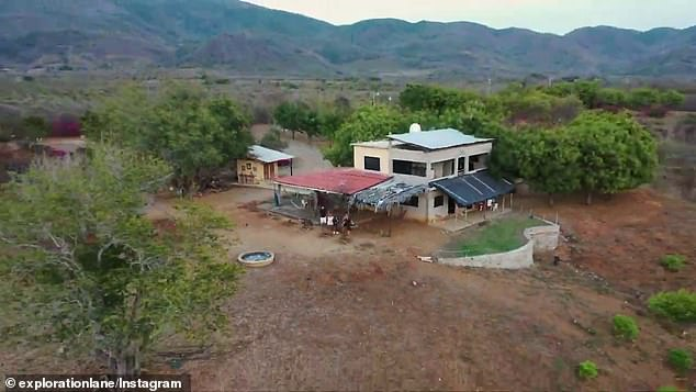 In exchange for food, facilities and somewhere safe to sleep, the couple feed animals and take care of the property (pictured)