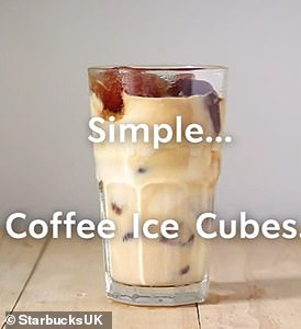 Starbucks also revealed that its frozen lattes are just coffee and milk on ice