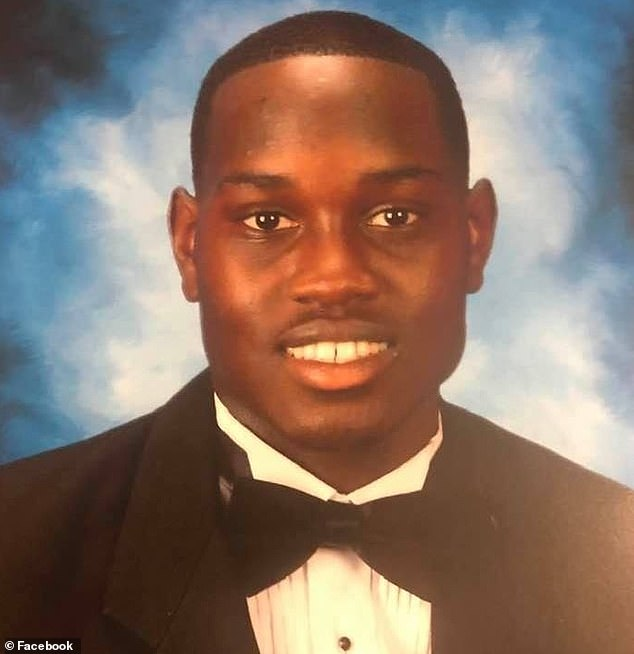 Ahmaud Arbery, pictured, was killed February 23; a white father and son told police they pursued him in their truck because they suspected him of being a burglar