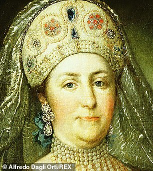 The bottle dates back to the same year that Catherine the Great (above) was crowned Empress of Russia