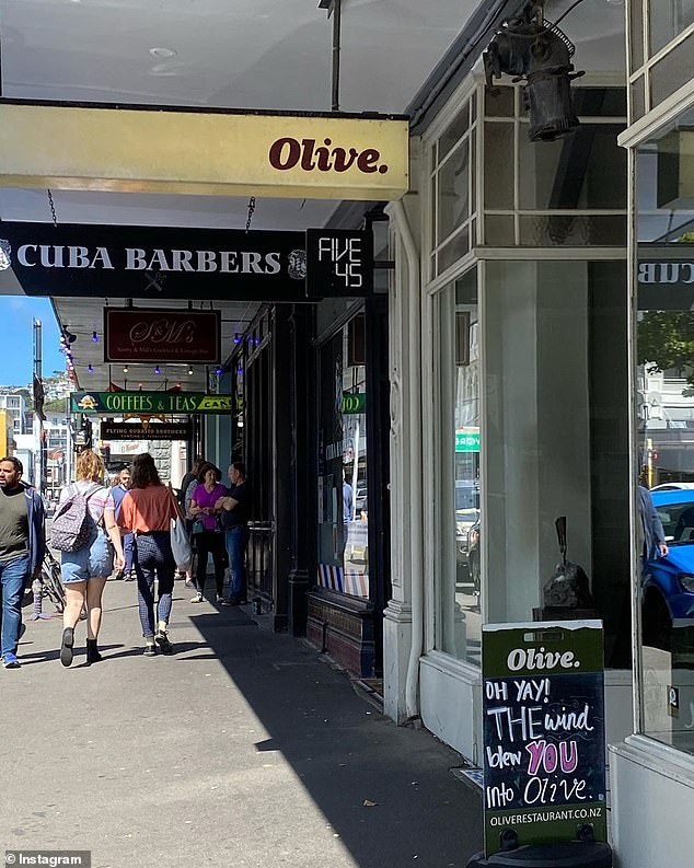 Pictured: Olive in Wellington, New Zealand.New Zealand entered 'Alert 2' of their coronavirus action plan on Thursday, which allowed Kiwis to slowly return to everyday life