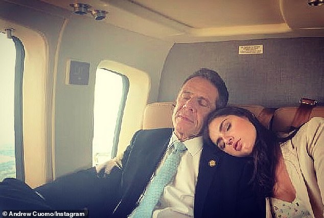 Gov. Andrew Cuomo has been posting daily updates about his life, along with his daily press briefings. He's pictured here with his daughter on day 75 of the 'New York on Pause' order