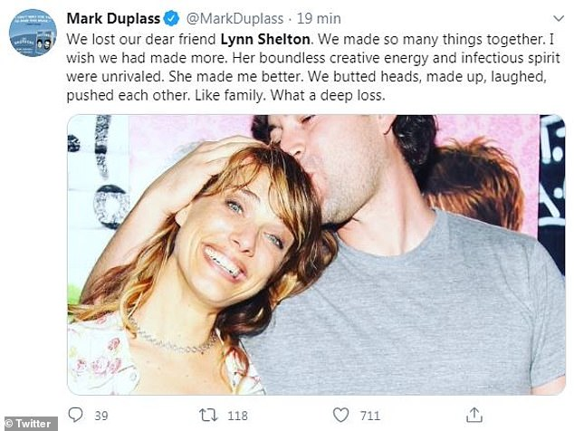 'What a deep loss':She often worked with Mark Duplass, one of the stars of the funny and underrated Humpday, who tweeted out his condolences on Saturday