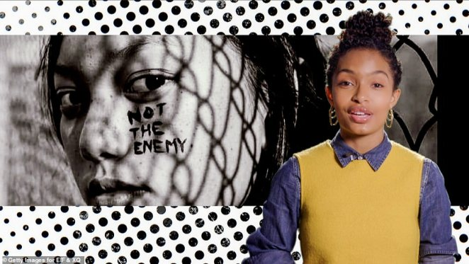 True superheroes: The Grown-ish star added: 'You've pushed the bounds of what it means to be a hero, and the whole world is witnessing the incredible superpowers of our generation'