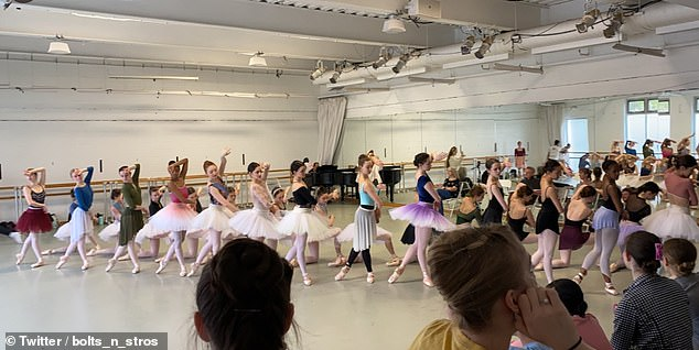 An American dancer shared a picture of the rehearsal for the Swan Lake, which was due to be shown art the Kennedy Center in Washington on April 9, and was rescheduled until May 2021