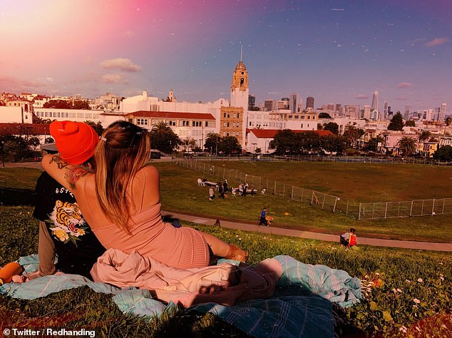 A Twitter user going by Len shared this picture of Dolores Park in San Franciso, taken a few weeks before the US entered lockdown